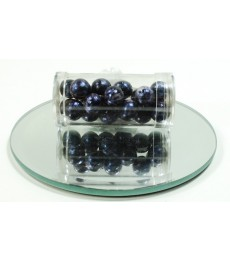 Navy Iced Beads - 10mm