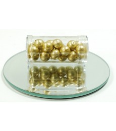Gold Iced Beads - 10mm