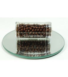 Brown Glass Wax Beads 4mm