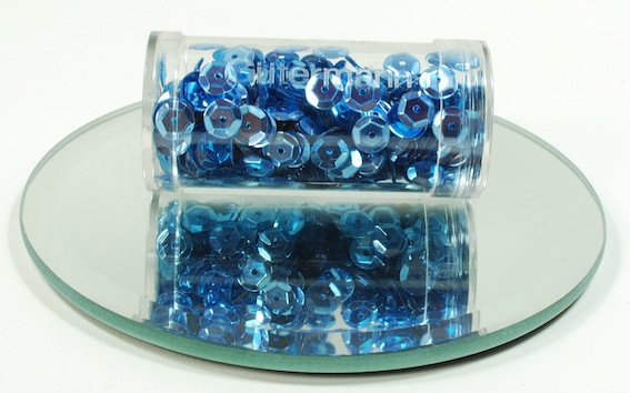 Bright Blue Cup Sequins 6mm