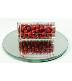 Red Glass Wax Beads 6mm