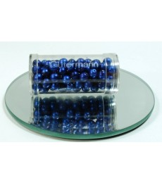 Blue Glass Wax Beads 6mm