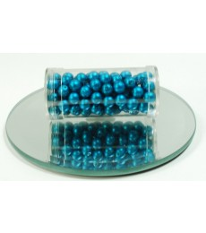 Blue Aqua Glass Wax Beads 6mm