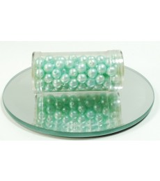 Blue Pale Aqua Glass Wax Beads 6mm