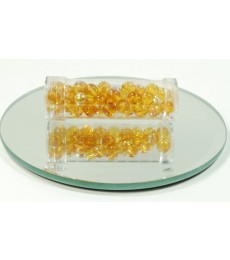 Amber Rainbow Glass Beads - 6mm