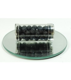 Black Glass Wax Beads 8mm