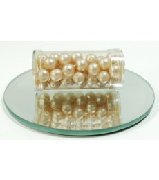 Beige Glass Wax Beads 8mm