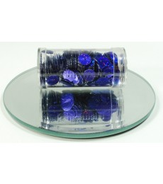 Glitter Blue Flat Sequins 8mm