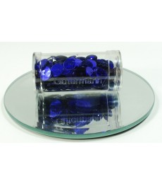 Blue Dark Flat Sequins 8mm