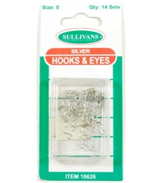 Hook & Eye's - Silver - size 0