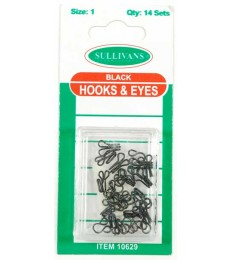 Hook & Eye's - Black - size 1