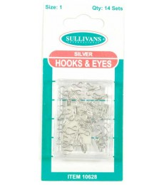 Hook & Eye's - Silver - size 1