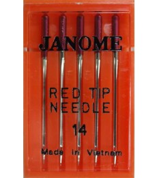 Janome Needles Red Tip size 14- pk 5