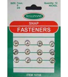 Snap Fasteners - Silver - 07mm