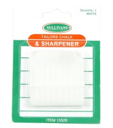 Tailors Chalk & Sharpener - White