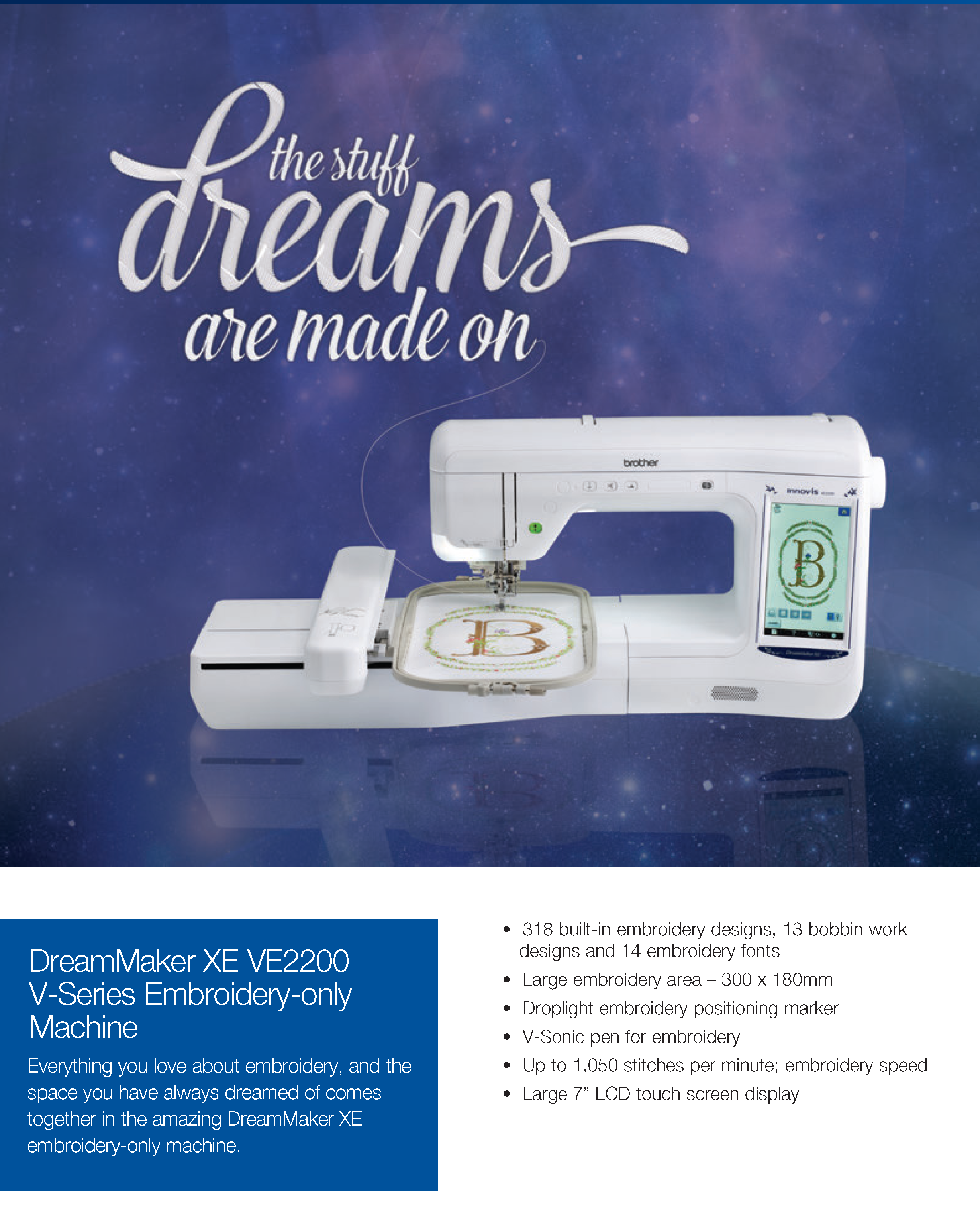 ve2200 embroidery machine