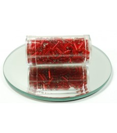 Red 7mm Bugle Beads