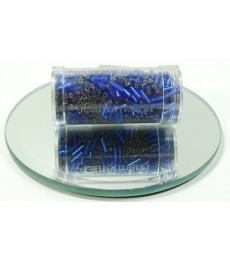 Blue 7mm Bugle Beads