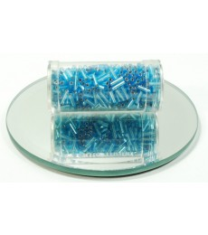 Blue Bright 7mm Bugle Beads