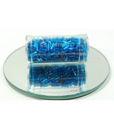 Blue Bright 7mm Bugle Twist Beads