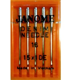 Janome Needles Denim size 16- pk 5